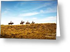 Horseback Riding Greeting Card by Carlos Caetano