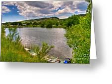 Horsetooth Reservoir Summer Scene Greeting Card by Harry Strharsky