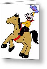 Horsey Greeting Card by Bruce Iorio