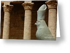 Horus Temple Of Edfu Egypt Greeting Card by Bob Christopher