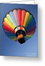 Hot Air Balloon In Flight Greeting Card by Bryan Mullennix