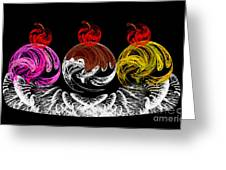 Hot Fudge Ice Cream Boat Greeting Card by Andee Design