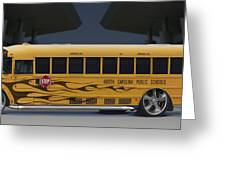 Hot Rod School Bus Greeting Card by Mike McGlothlen