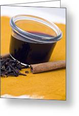 Hot Spiced Wine Greeting Card by Frank Tschakert