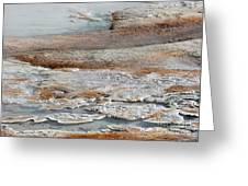 Hot Springs Abstract Two Greeting Card by Sabrina L Ryan