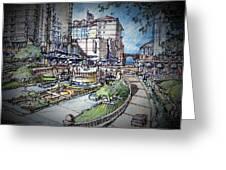 Hotel Plaza Greeting Card by Andrew Drozdowicz