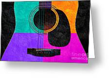 Hour Glass Guitar 4 Colors 2 Greeting Card by Andee Design
