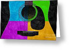 Hour Glass Guitar 4 Colors 3 Greeting Card by Andee Design
