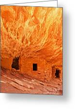 House On Fire Ruin Portrait 2 Greeting Card by Bob and Nancy Kendrick