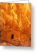 House On Fire Ruin Portrait 3 Greeting Card by Bob and Nancy Kendrick