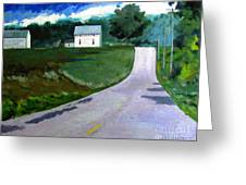 House On The Hill Greeting Card by Charlie Spear