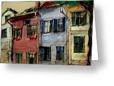 Houses In Transylvania 1 Greeting Card by Mona Edulesco