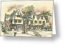 Houses On Locust Street Walnut Hills Cincinnati Ohio 1888 Greeting Card by SE DesJardins