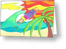 How I Lost My Flip Flops Greeting Card by Geree McDermott
