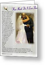 How Much Do I Love Thee Greeting Card by Terry Wallace
