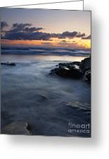 Hug Point Sunset Greeting Card by Mike  Dawson
