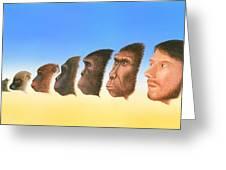 Human Evolution, Artwork Greeting Card by Richard Bizley