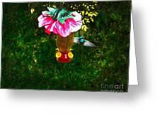 Hummingbird Early Visit Greeting Card by Al Bourassa