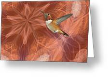 Hummingbird Portal Greeting Card by Gregory Scott