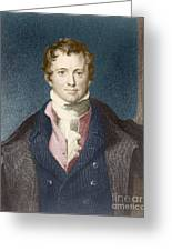 Humphry Davy, English Chemist Greeting Card by Science Source