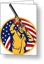 Hunter American Flag Greeting Card by Aloysius Patrimonio