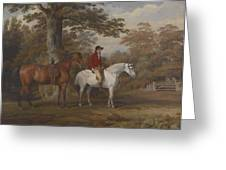 Hunter And Huntsman Greeting Card by George Gerrard