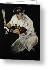 Hunter Pence 2 Greeting Card by Leo Artist