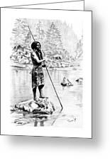 Hupa Fisherman Greeting Card by Toon De Zwart