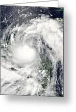 Hurricane Alex Greeting Card by Stocktrek Images