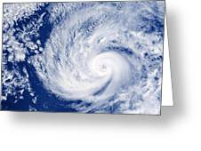 Hurricane Cosme Greeting Card by Science Source