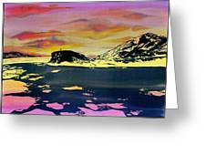 Hut Point Antarctica Greeting Card by Carolyn Doe