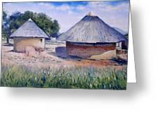 Huts At Pelegano Botswana 2008 Greeting Card by Enver Larney