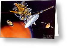 Huygens Probe Separating Greeting Card by NASA and Photo Researchers