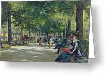 Hyde Park - London  Greeting Card by Count Girolamo Pieri Nerli