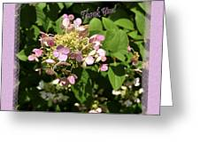 Hydrangea Thank You Greeting Card by Larry Bishop