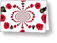 Hypnotic Roses Greeting Card by Denise Oldridge