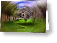 Hypnotic Swirl Greeting Card by Lourry Legarde