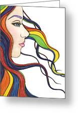 I Am My Own Rainbow Greeting Card by Nora Blansett