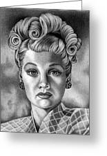 I Love Lucy Greeting Card by Mitzie Bower