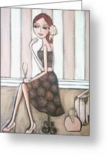 I Love Paris Greeting Card by Denise Daffara
