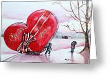 I Love You Thiiis Much Greeting Card by Shana Rowe