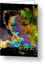 I Love Your Poetry Greeting Card by Fania Simon