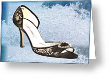 Ice Princess Lace Pumps Greeting Card by Elaine Plesser