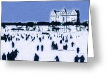 Ice skating in Central Park Greeting Card by Stefan Kuhn
