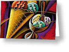 Icecream Greeting Card by Leon Zernitsky