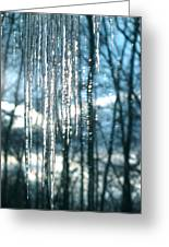 Icicle Art Fun 10 Greeting Card by Debra     Vatalaro