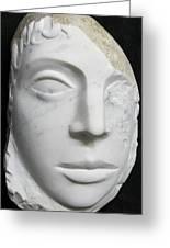 Idol Of Cydonia Greeting Card by Marino Ceccarelli Sculptor