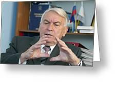 Igor Spassky, Russian Naval Engineer Greeting Card by Ria Novosti