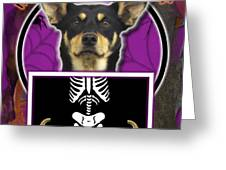 I'm Just a Lil' Spooky Australian Kelpie Greeting Card by Renae Laughner