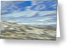 Impression Of Wyoming Greeting Card by Lenore Senior